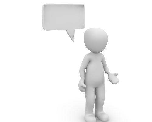 Image of graphic person with a speech bubble