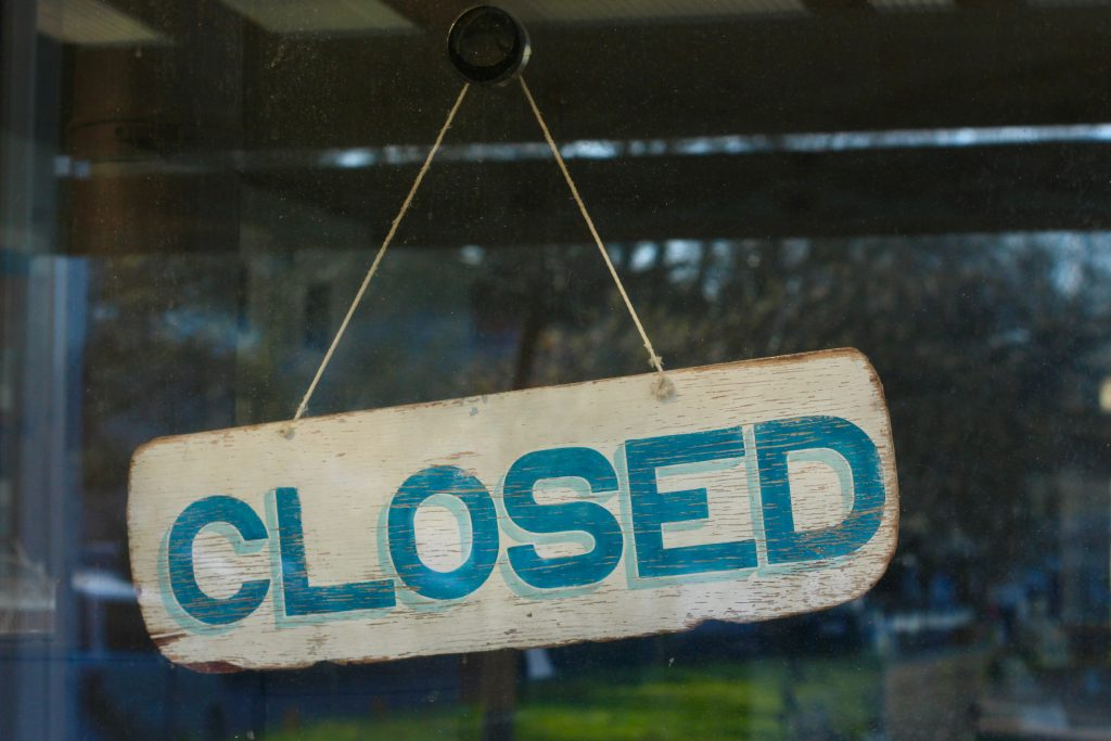 Businesses started closing due the the pandemic in March.